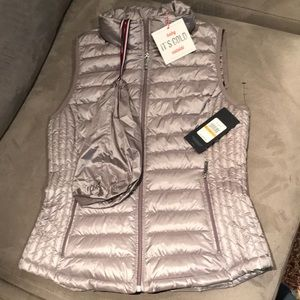 Tommy Hilfiger Silver Gray Packable Puffer Vest Sm